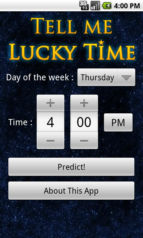 Tell Me Lucky Time- screenshot