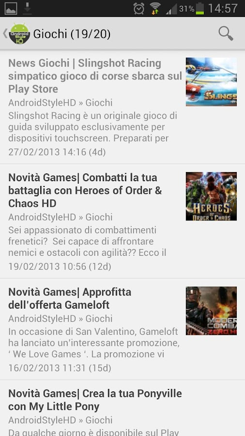 Android Style HD News - screenshot