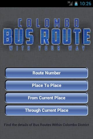 ColomboBusRoute - screenshot