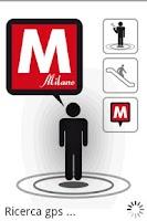 Screenshot of Milan Metro Augmented Reality