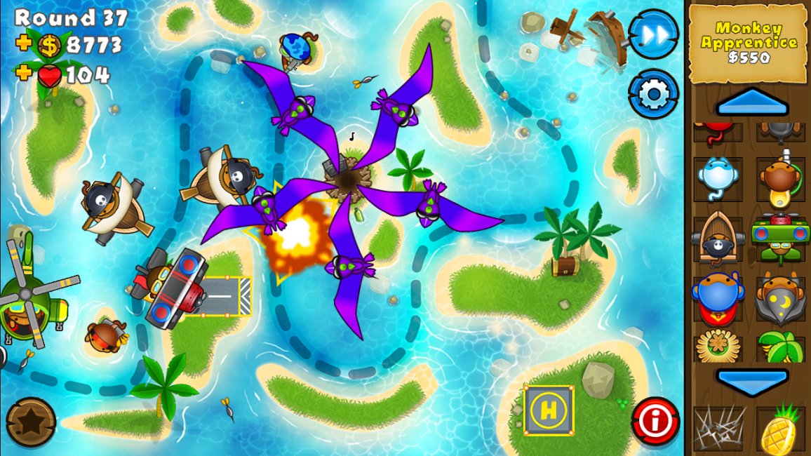 #7. Bloons TD 5 (Android)