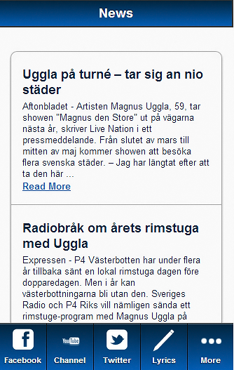 Magnus Uggla Blue Fan - screenshot