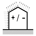 wind loads components cladding icon
