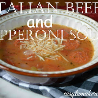 Italian Beef and Pepperoni Soup.
