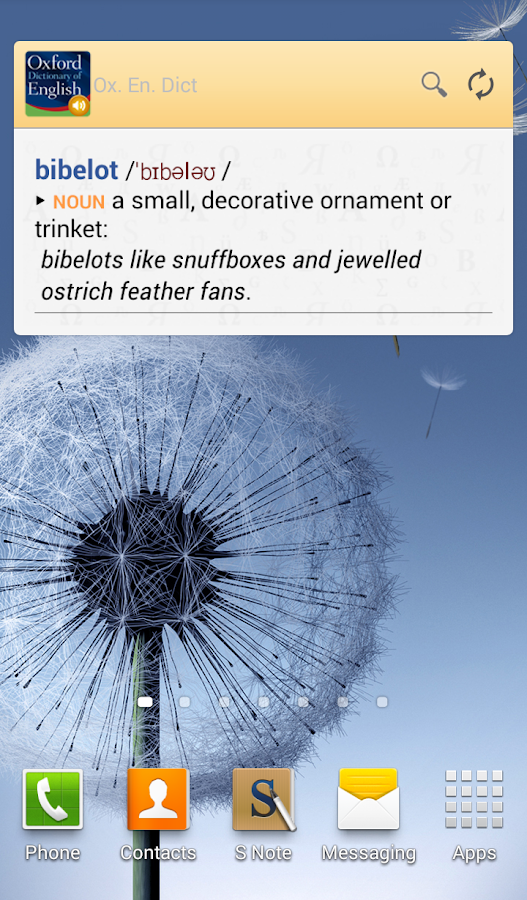 Oxford Dictionary of English - screenshot