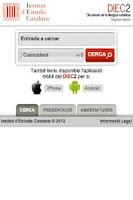 Screenshot of DIEC2 en línia