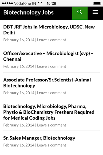 Biotechnology Jobs