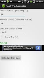 Road Trip Calculator Screenshot 1