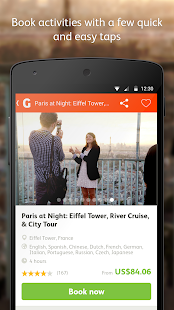 GetYourGuide Tours & Tickets - screenshot thumbnail