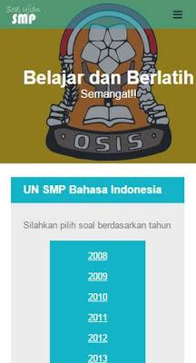 Soal UN SMP - screenshot