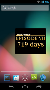Episode VII Countdown Widget