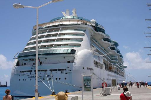 Royal Caribbean's Serenade of the Seas in St. Maarten.