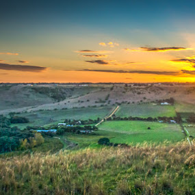 Sundown by Tony Buckley - Landscapes Sunsets & Sunrises ( hdr, sunset, sundown, valley, farming )
