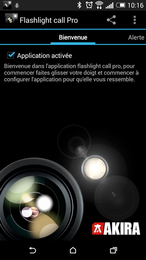 Flashlight Call Pro- screenshot