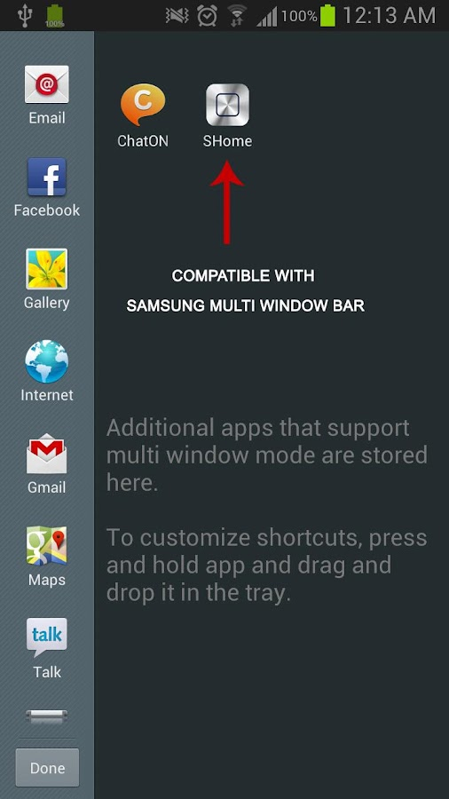 SHome for Samsung Multi Window- screenshot