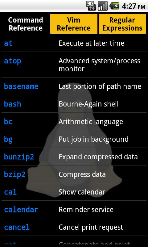 Linux Reference Card - screenshot