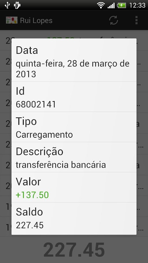 cartão à la card- screenshot