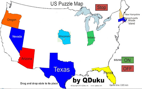 Us states map puzzle game apps on google play screenshot image gumiabroncs Gallery