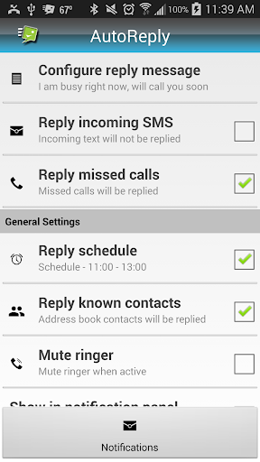 AutoSms Reply MissedCalls Text