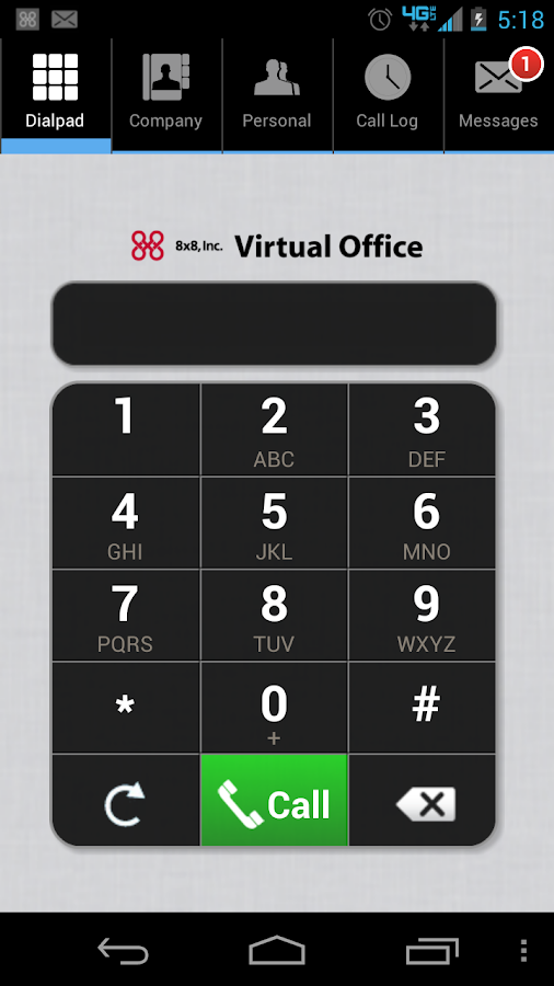 8x8 Virtual Office - screenshot