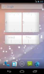 Linear Clock Free Widget - screenshot thumbnail