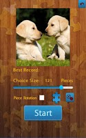 Screenshot of Dogs Jigsaw Puzzles