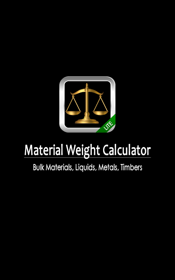 Material Weight Calculator LTE - screenshot