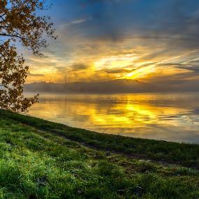 Lake Burley Griffin by Peter Hoek - Landscapes Sunsets & Sunrises