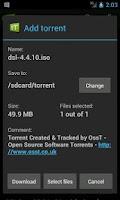 Screenshot of tTorrent Pro (for x86)