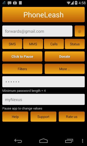 PhoneLeash: SMS MMS forwarding