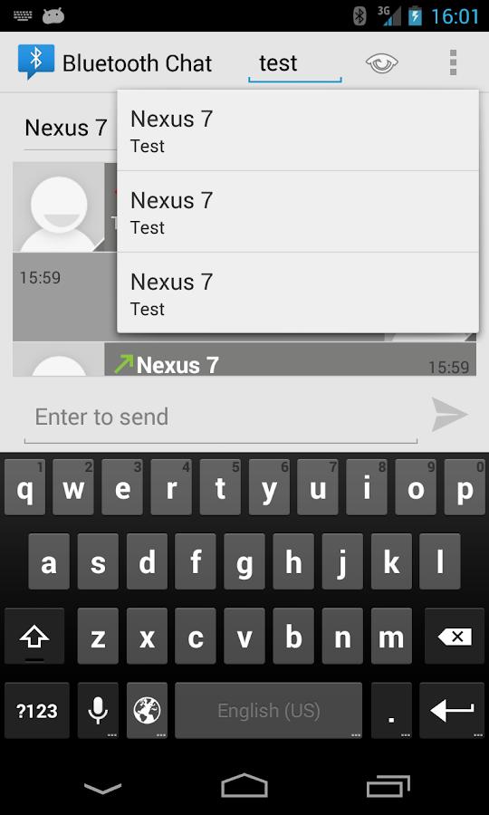 Bluetooth Chat - screenshot