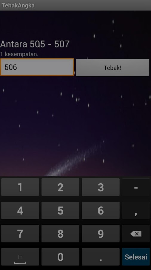 Tebak Angka- screenshot