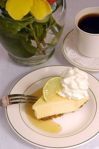 You can't say you've visited Florida unless you've tried Key lime pie. This one was made in Key West, Florida.