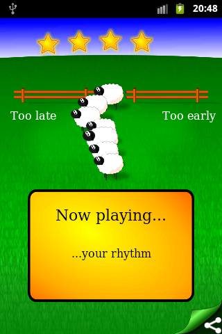 Rhythm Sheep - learn music- screenshot