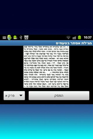מגילת אסתר בטעמים - screenshot