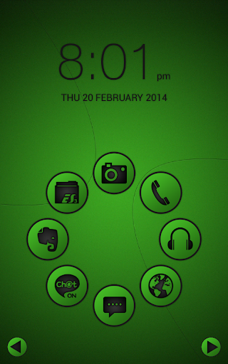 Smart launcher theme SoftGreen