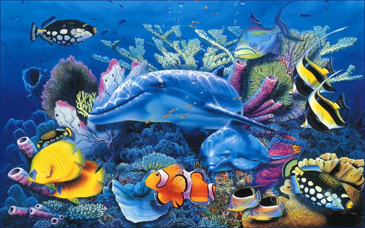 Fish aquarium live wallpaper - Aquarium Live Wallpapers Screenshot