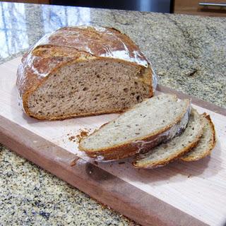 Beer Rye Bread, No-Knead
