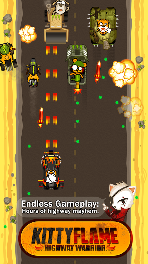 Kitty Flame: Highway Warrior- screenshot