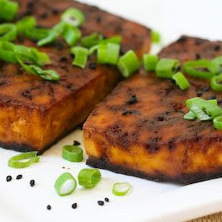 Baked Tofu with Soy and Sesame.