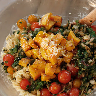 Creamy Fusilli with Kale and Butternut Squash