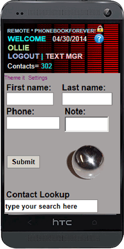 Phone Contacts Cloud Manager