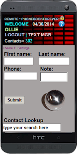 Phone Contacts Cloud Manager - screenshot thumbnail