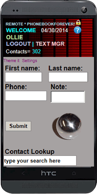 Phone Contacts Cloud Manager - screenshot