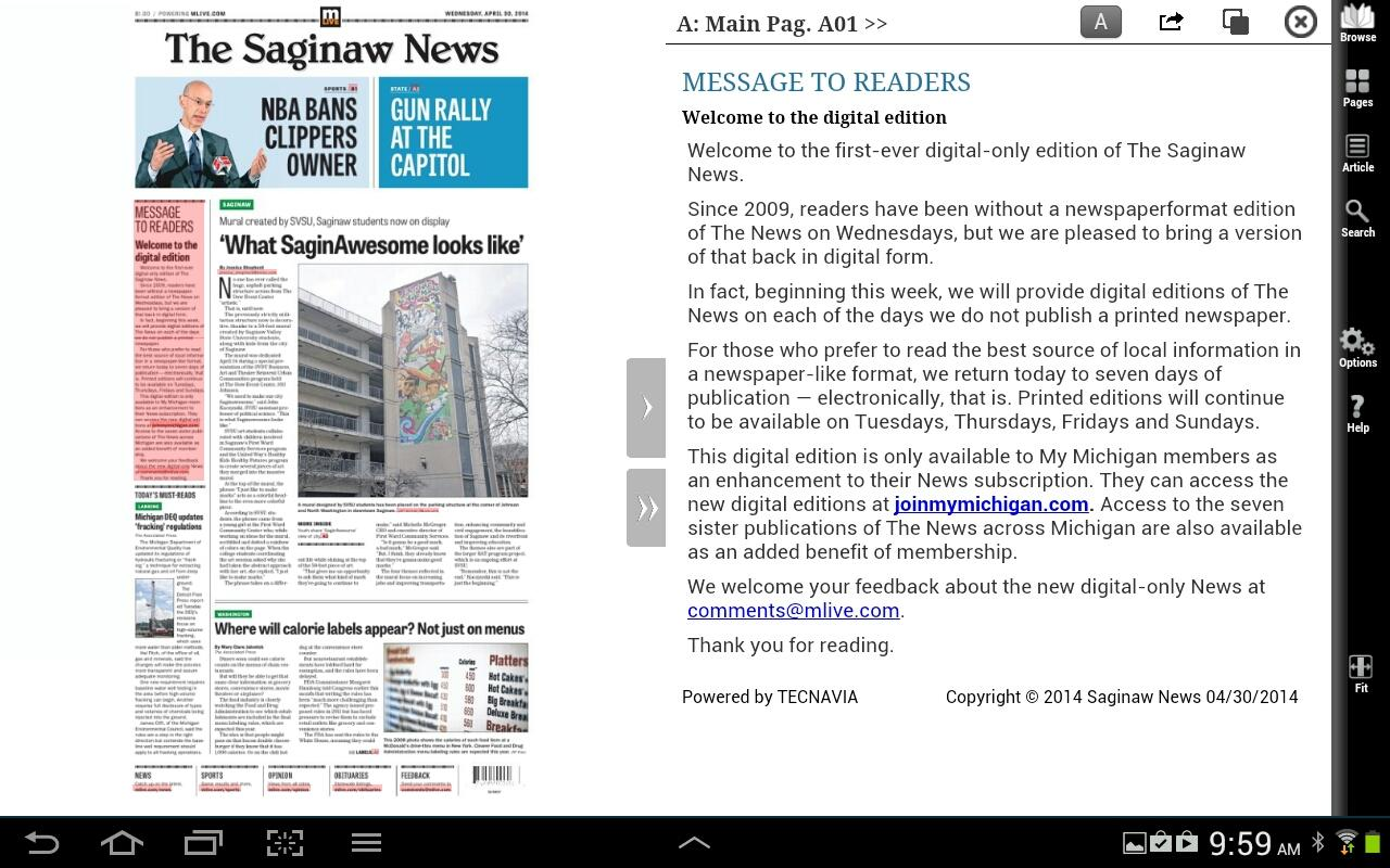 Saginaw News- screenshot