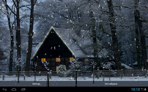 Winter Snowfall Live Wallpaper- screenshot thumbnail