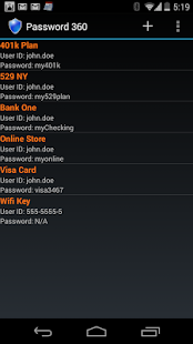 Password 360 Lite- screenshot thumbnail