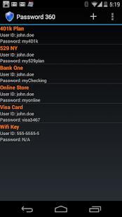 Password 360 Lite - screenshot thumbnail