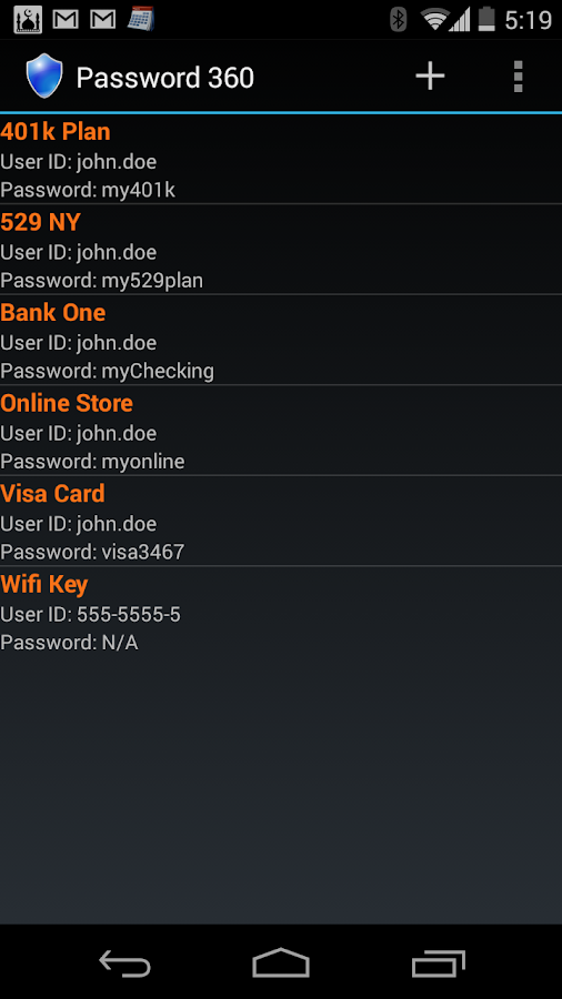 Password 360 Lite- screenshot