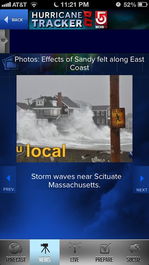 Hurricane Tracker WCVB Boston- screenshot